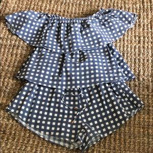 Sabo skirt checkered romper
